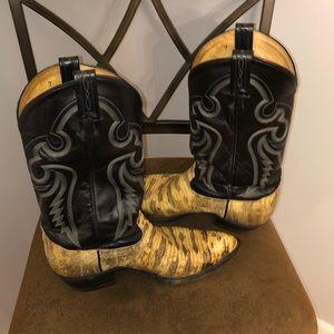 Tony Lama natural lizard Western Boots